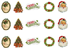 Traditional Christmas Images Edible Icing Cake Side Strips / Ribbon (3 x strips)