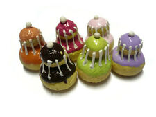 6 Mix Colorful Caramel Religieuse Dollhouse Miniatures French Pastry Sweet