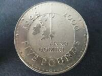 1999 £5 COIN GOOD CONDITION (CROWN) CELEBRATING THE MILLENIUM. FIVE POUNDS COIN
