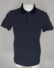 Men's Jack Spade size Small S Blue Dots Button Short Sleeve Polo Shirt NEW NWT