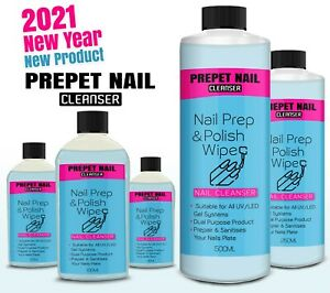 Nail PREP AND WIPE Solution Gel Polish Cleanser Residue Remover PERFECT FINISH
