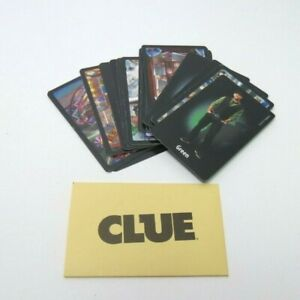 2013 Clue Classic Mystery Game Replacement Parts- Clue Cards & Murder Envelope