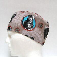 Pirates of the Caribbean Mens Scrub Hat, Skull Cap, Chemo Hat, Surgical Cap