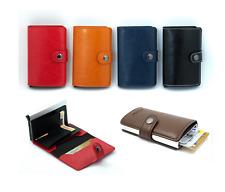 Kunstleder Alu RFID Slim wallet Kartenetui Geldklammer Geldbeutel RFID-Block