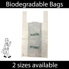 More details for 100% biodegradable white plastic carrier bags eco friendly large shopping bag