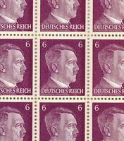 Stamp Germany Mi 785 Sc 510 Sheet 1941 WWII Fascism War Hitler AH MNG