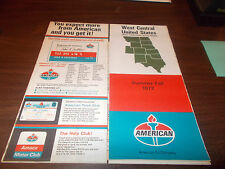 1972 American Oil West Central United States Vintage Road Map
