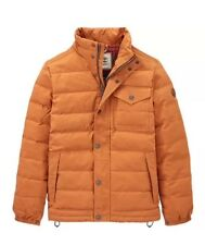 Timberland Men's Mt Davis Waxed Down Jacket, Wheat. Size:M
