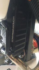 Suzuki DR 650 Oil Cooler guard in Black 1996- current