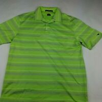 Nike Dri Fit Tiger Woods Collection Golf Shirt  Polo Size Large Green Stripes