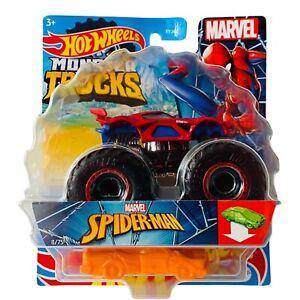 Hot Wheels Marvel Spiderman Monster Truck (NEW) 8/75 Mattel 2020 Nintendo Dodge