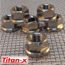 4x M12 Titanium Flange Nuts  1.25 pitch