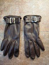 gants en cuir marron PAULE KA