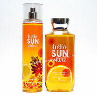 2pc Set - HELLO SUNSHINE - Fine Fragrance Mist Shower Gel - Bath & Body Works