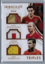 XAVI / INIESTA / CESC FABREGAS 2017 Panini Immaculate SPAIN TRIPLES PATCH #25/25