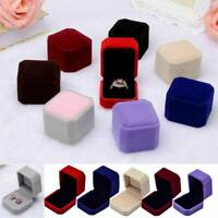 Gift Velvet Jewelry Earring Ring Display Storage Organizer Square Box Case NEW