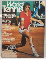 World Tennis US Tennis Magazine - September 1976 - Arthur Ashe Vtg
