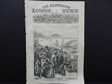 Illustrated London News Cover S7#04 Feb 1871 French in Prussian Lines For Bread