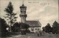 Kirchheim unter Teck AK 1907 Teckturm Turm Tower Lokal gelaufen nach Öhringen