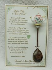 """Life Is Like A Cup Of Tea"" Raven's Nest Specialties Spoon with Teapot Handle"