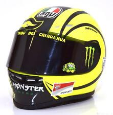 1:2 Minichamps AGV tête casquée Ducati Test Valence, Moto GP Rossi 2009