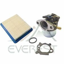 New Carburetor Fits Briggs & Stratton 498170 & Air Filter Cartridge 491588S