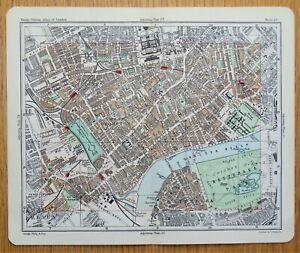 SOUTH KENSINGTON, CHELSEA, BATTERSEA, London street plan, antique map 1896