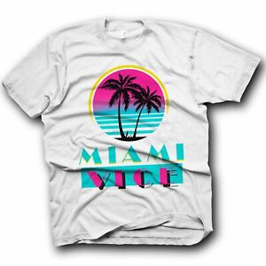 Miami Vice T-shirt Action Sci Fi Chinese Japanese 80s 90s Hippy Classic