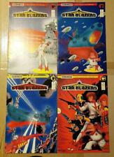 Star Blazers 1 2 3 4 Comics Set Comico V1 Mini-Series Tv Cartoon Argo Mike Chen