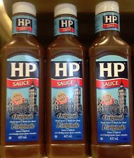 ORIGINAL HP STEAK SAUCE 3x400ml BOTTLES MADE IN CANADA
