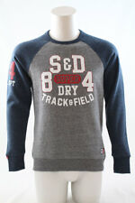 Superdry Trackster Baseball Crew Jumper Portland Grey Size Large or XXL