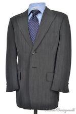 DRIES VAN NOTEN Gray Woven Wool Peak Lapel Jacket Pants SUIT Mens - 40 R