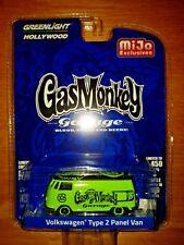 Greenlight Gas Monkey Garage VW Type 2 Panel Van Green Mijo Exclusive