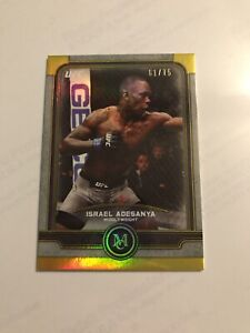 2019 Topps Museum Collection UFC Israel Adesanya Gold Parallel 61/75