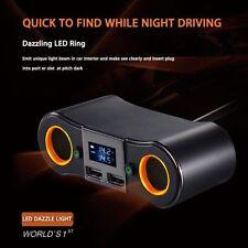 12/24V Auto KFZ Ladegerät 2Steckdose Dual USB Zigarettenanzünder Zwischenstecker