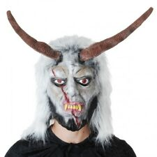 Goat Man Mask With Hair Baphomet Occult Cosplay Halloween Costume Accessories