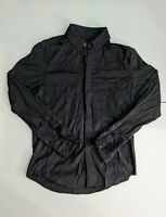 Lululemon Athletica Mens Black Button Down Shirt Size Small