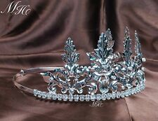 Noble King Tiara Imperial Medieval Crowns Crystal For Men Pageant Party Costumes