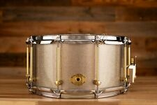 NOBLE & COOLEY 14 X 7 SS CLASSIC TULIP SOLID SHELL SNARE DRUM, GRAY SPARKLE LACQ