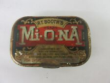 VINTAGE MIONA   PILLS TIN ADVERTISING COLLECTIBLE  M-979
