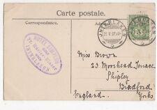 Miss Brown Moorhead Terrace Shipley 1907  187a