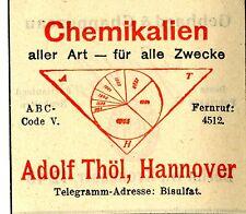 CHEMIKALIEN ALLER ART Adolf Thöl Hannover Trademark 1908