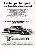 PUBLICITE ADVERTISING 054 1979  GENERAL MOTORS AMERICAN CARS OLDSMOBILE DELTA 88
