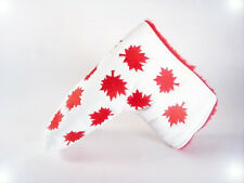 NEW RED MAPLE LEAF CANADA LIMITED EDITION PUTTER HEAD COVER WHITE