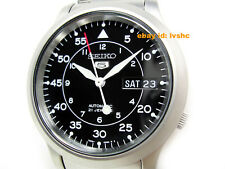 SEIKO 5 SNK809 SNK809K1 Military Army Automatic Black Ready to Ship !
