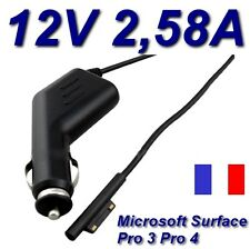 Chargeur Voiture Allume Cigare 12V 2,58A Tablette Microsoft Surface Pro4 Pro 4