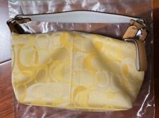 Coach Bag - Small - Yellow Signature Coated Canvas Bag
