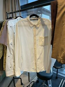 Mens ARKET Off White Corduroy Shirt Size 54