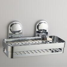 Wall Mounted Bathroom Shower Suction Shelf Wall Storage Rack Holder Organizer