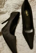 Frederick of hollywood High Heel Shoes Black Satin Size 10M